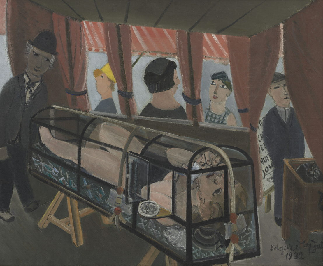 Edgard Tytgat, Young Girl in a Glass Coffin, 1932<br/>©Peter Cox<br/>(c) SABAM Belgium 2017