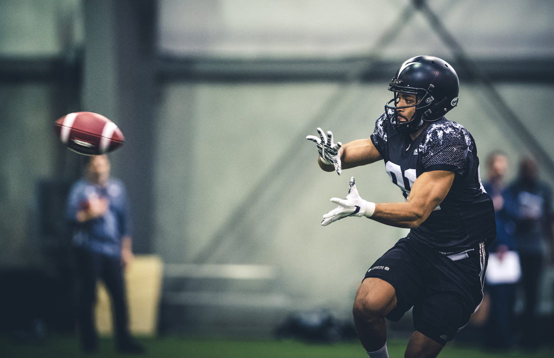 Nathaniel Behar at the CFL Combine presented by adidas. Photo credit: Johany Jutras/CFL