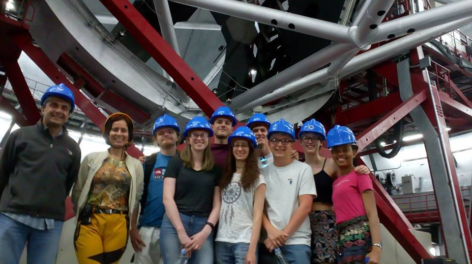 Cheyenne and classmates visit the world's biggest (optical) telescope: Gran Telescopio Canarias (GTC) at the Roque de los Muchachos Observarory in La Palma (Canary Islands). This was during an Astronomy field trip to the Canary Islands (July 2018) where only 8 of the best Astronomy students were chosen to complete the 3rd year Astronomy project.