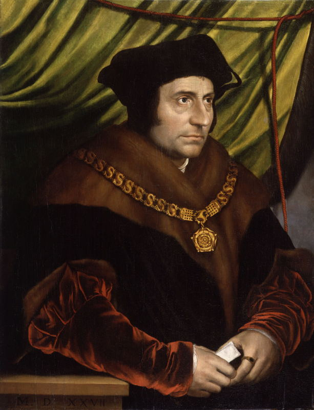 'In Search of Utopia' © © Hans Holbein the Younger (after), Portrait of Thomas More, 1527.  National Portrait Gallery, London.