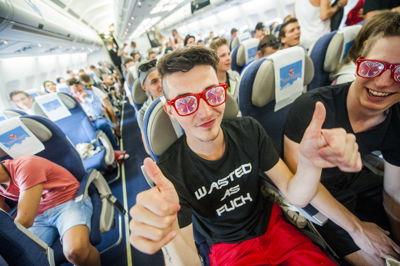 Tomorrowland party flight