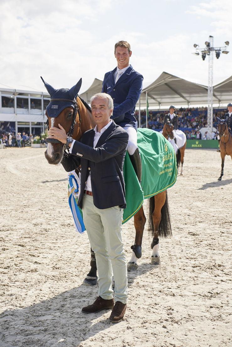 GP CSI 5*, 1m60 / jump-off <br/>Rider : Daniel Deusser<br/>Horse : Equita Van T Zorgvliet<br/>Directeur Porsche : Didier t&#039;Serstevens