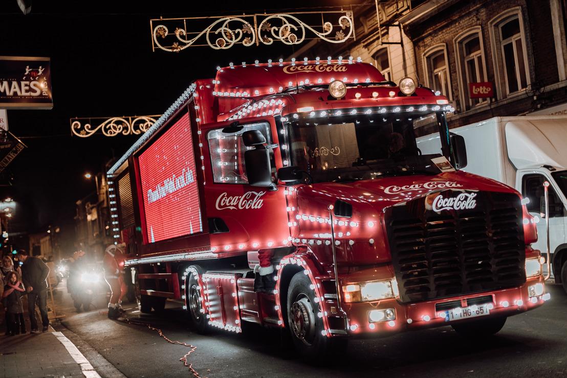 Le camion de Noël Coca-Cola à Mouscron ce 27 décembre