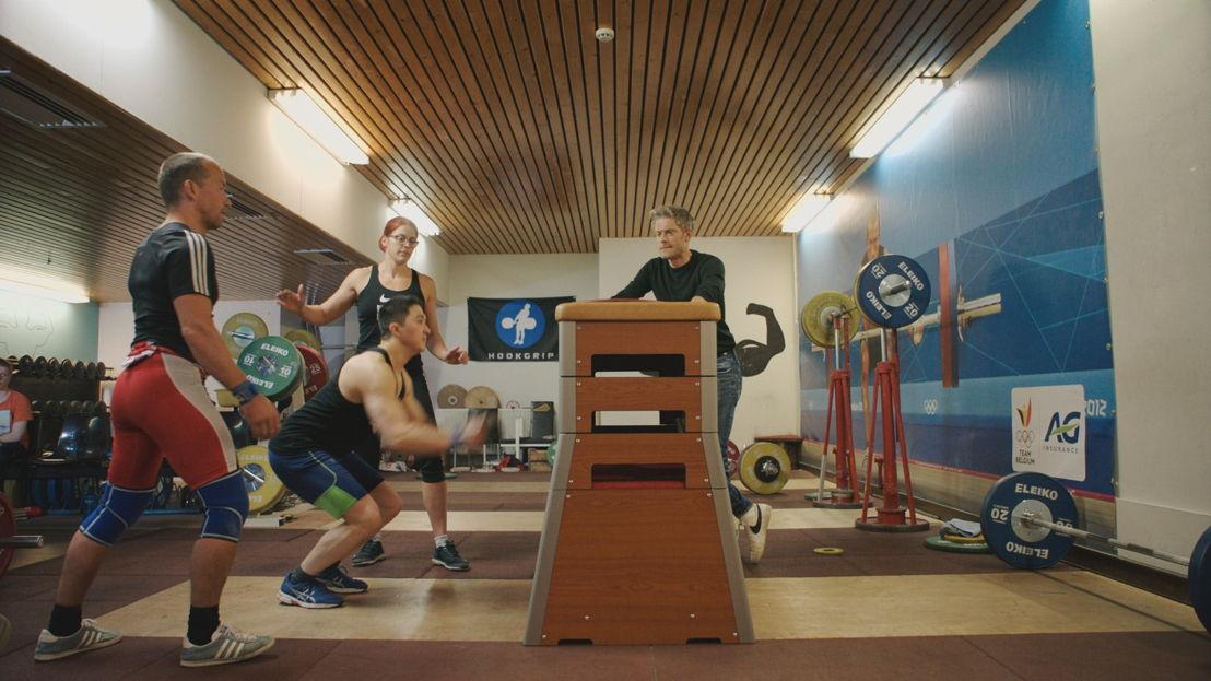 Gewichtheffen: Maarten met Tom Goegebuer en Bieke Vandenabeele - (c) De Mensen