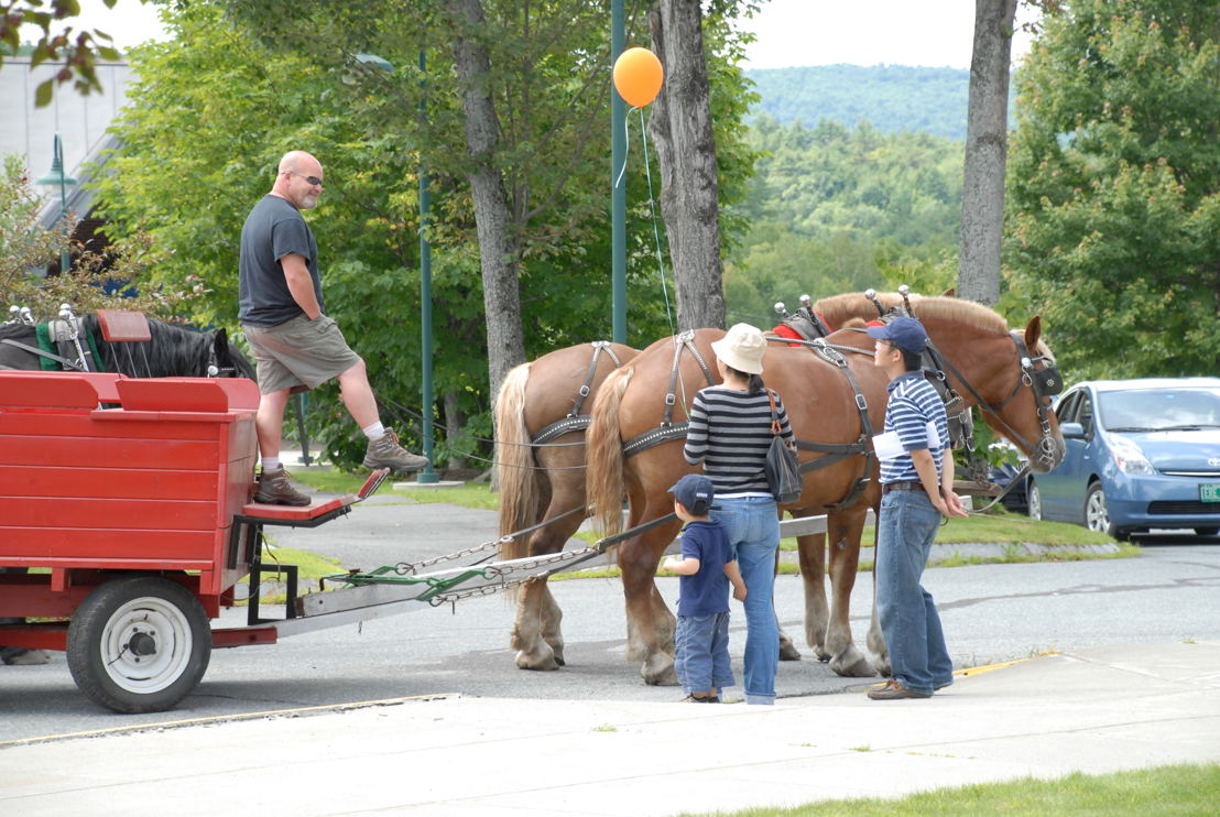 Wagon rides, another tradition of the Producers Fair.