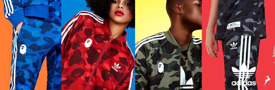 Camuflaje, colores y cultura: la nueva colección adicolor de adidas Originals x A BATHING APE
