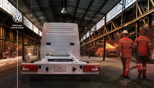 Crafter Chasis 3.5t de Volkswagen Vehículos Comerciales: lo mejor en versatilidad, confort y capacidad de carga