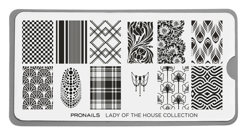 Stamping Plate Lady of The House