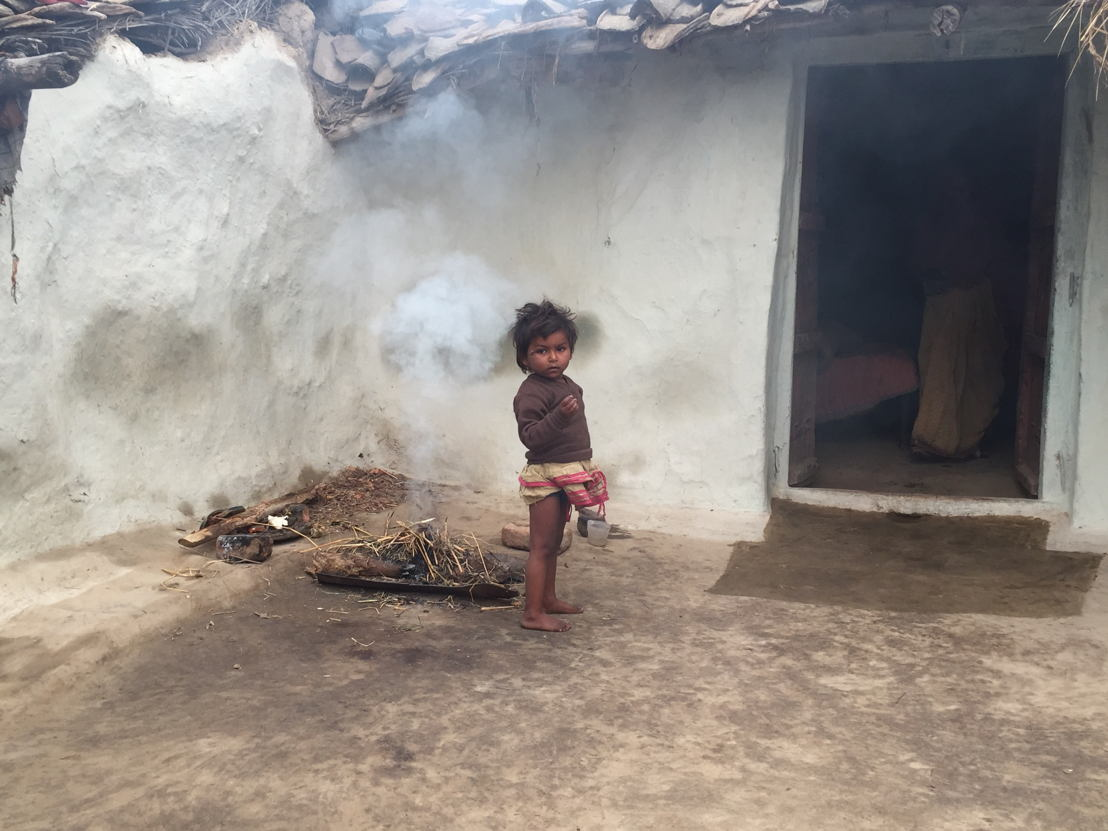 Child in village where sand mafia operates