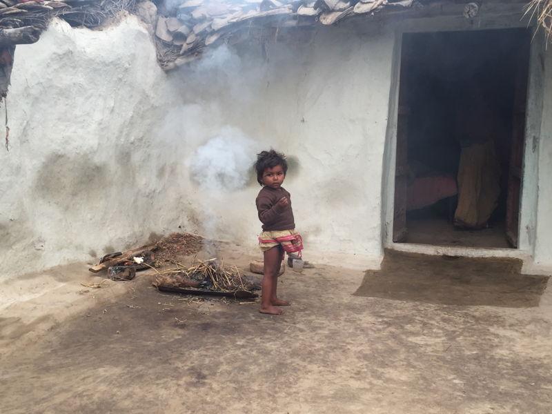 Child in village where sand mafia operates