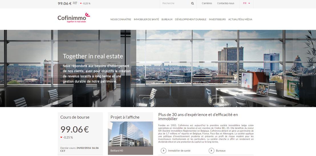 Voice mixt inhoud en design voor de nieuwe website van Cofinimmo