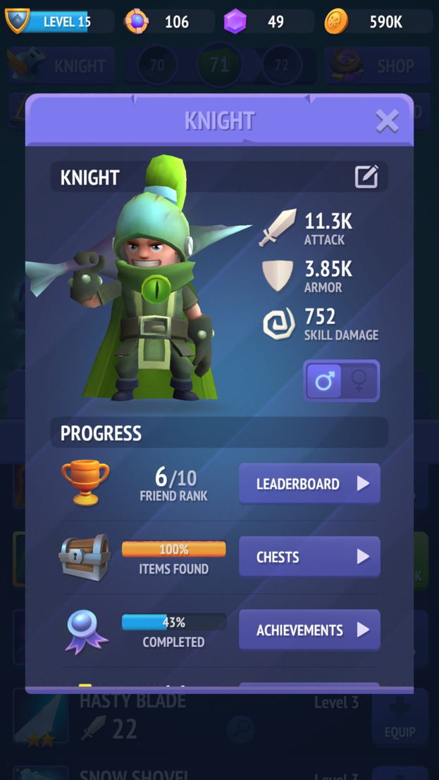 Nonstop Knight in action