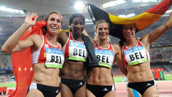 Belga Sport 9.1 : estafetteploeg 4 x 100 meter