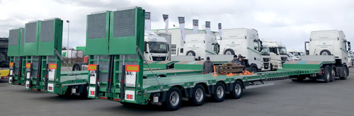 New Nooteboom semi lowloaders for Sochacki Road Technologies
