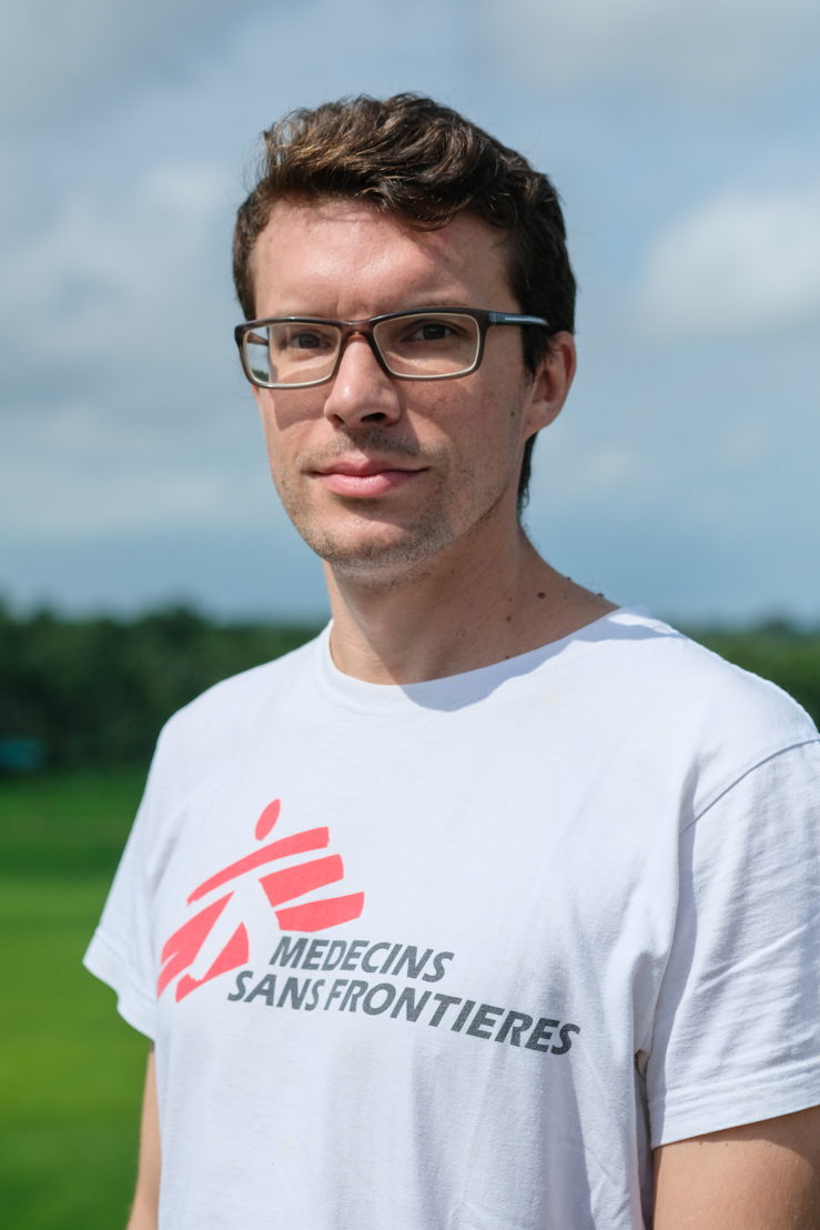 Dr. Konstantin Hanke, medical activities manager of Kutupalong medical facility, Bangladesh. Photographer: MSF