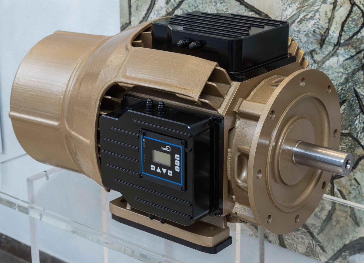 Het prototype van een 22 kW synchrone reluctantiemotor van KSB toont het potentieel aan van moderne onderdelen uit siliciumcarbide op het vlak van warmtebeheer en een hoger vermogen.
