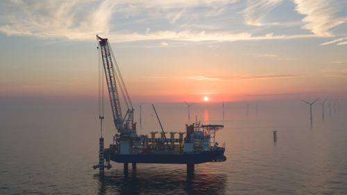 Installation of foundations for the Nobelwind wind farm completed