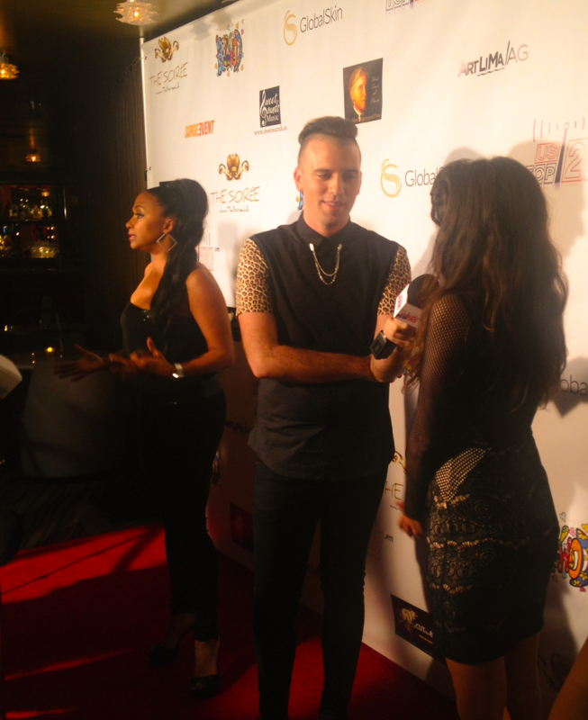 Jazsmin Lewis and Sara Castro on the red carpet at same time.