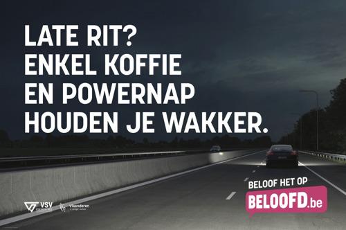 VSV en Bonka Circus doen eerste slaperigheidstest ooit op Vlaamse wegen in preventiecampagne tegen slaperig rijden