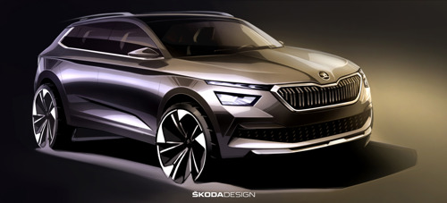Premières esquisses de la ŠKODA KAMIQ : aperçu du nouveau SUV urbain