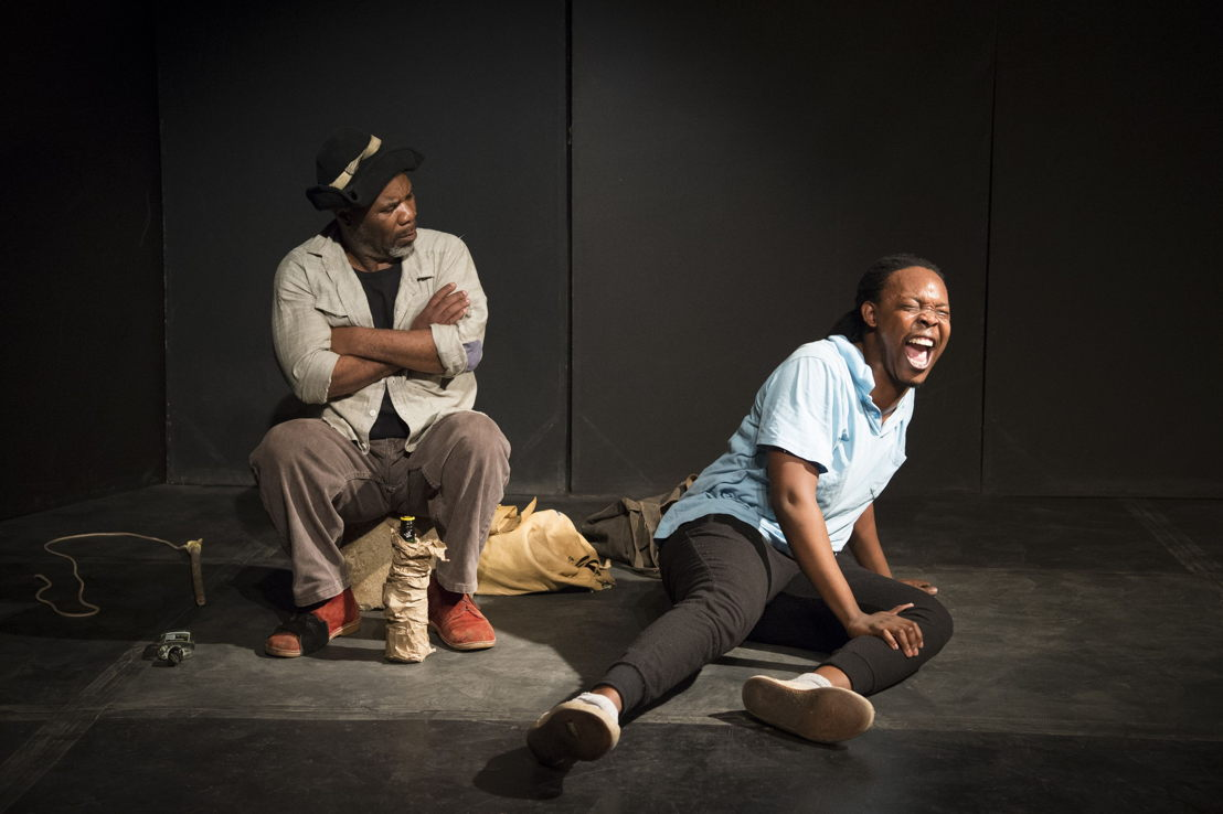 Nhlanhla Mkhwanazi and Motheo Madisa in Cattle Drive. Image credit Jan Potgieter