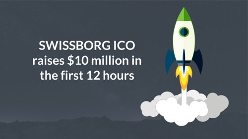 Preview: SwissBorg ICO raised 10 million USD in one day.