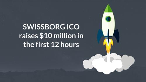SwissBorg ICO raised 10 million USD in one day.