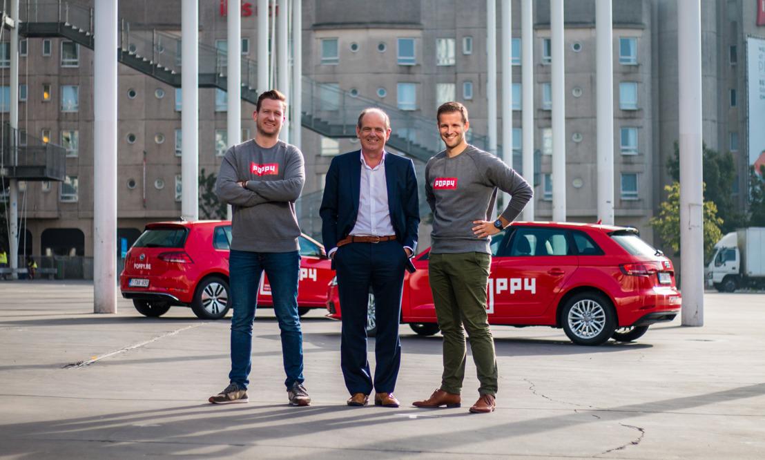 """La strat-up POPPY lance la plus grande flotte de voitures partagées en """"free floating"""" du pays"""