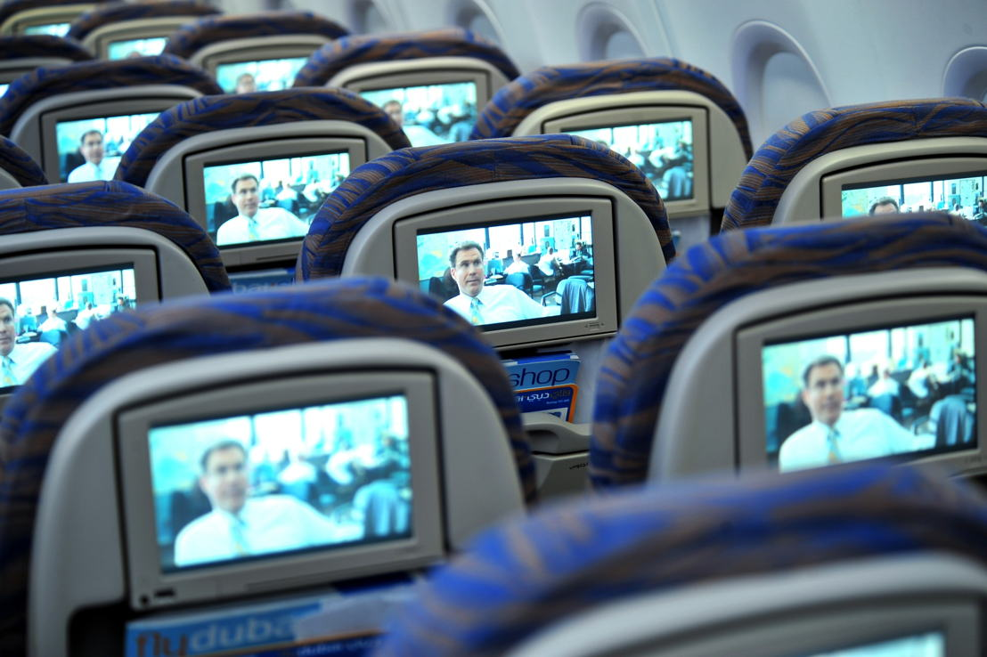 Economy Class seats showing inflight entertainment