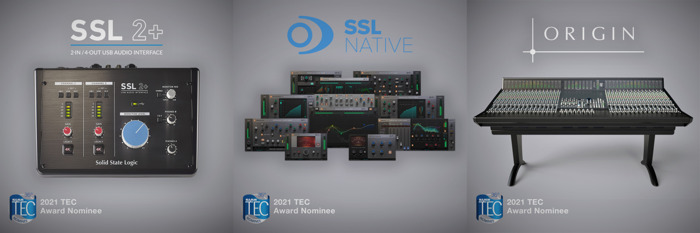 Solid State Logic Captures Three Nominations for 36th Annual Technical Excellence & Creativity Awards