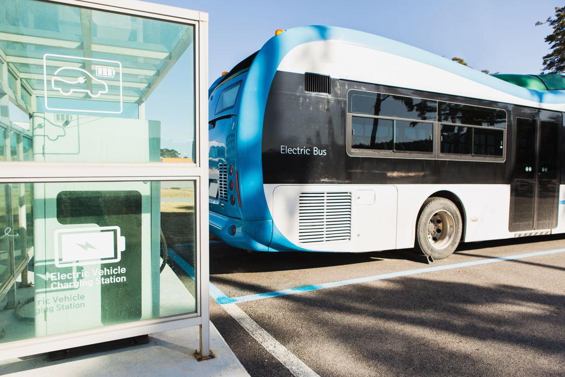 Electric Vehicle Bus Stands at the Charger - © Scharfsinn/shutterstock.com