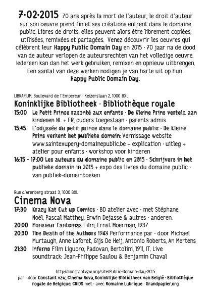 Dépliant Public Domain Day - La fête du domaine public (haute résolution: voir pdf ci-dessous)