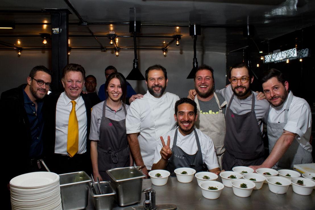 Lukas Romano, Jorge Romano, Chef Sofía, Chef Enrique Olvera, Chef Oswaldo, Chef Jair, Chef Joaquin y Chef Olivier