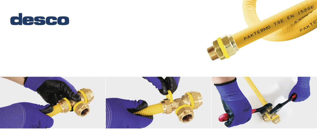 Desco facilite l'arrivée du gaz avec le flexible PAKTERMO PLT