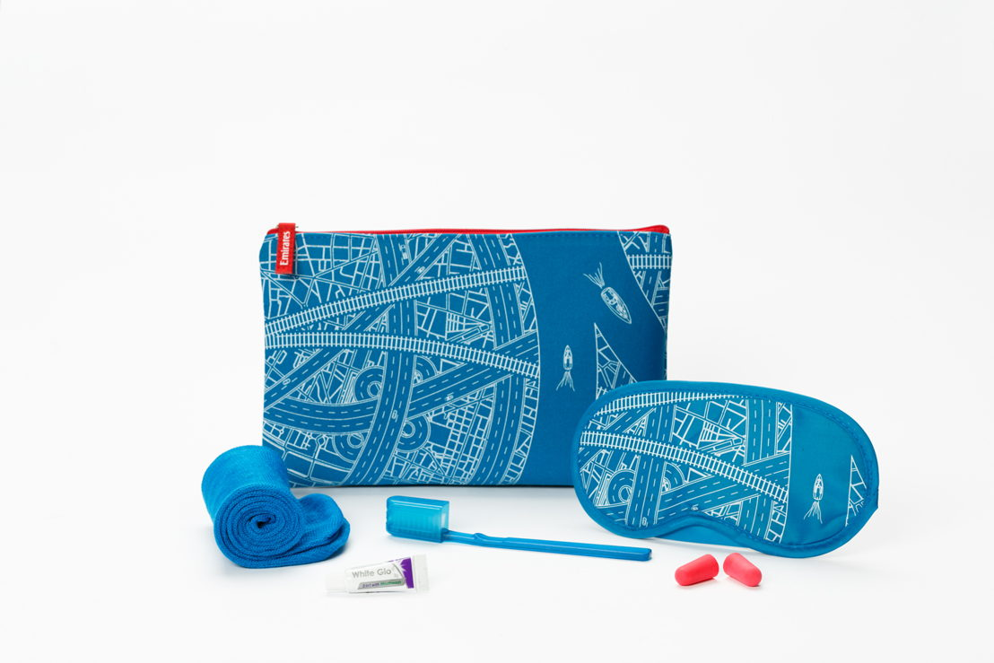The Economy Class Amenity Kits' new designs were inspired by Expo 2020