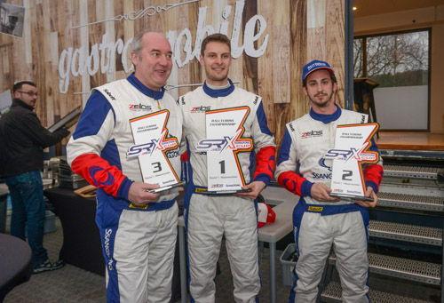 Left to right : Marc Duez,Guillaume De Ridder & Loris Cencetti Jr _Round #1 Ladbrokes SRX Cup Maasmechelen 05/03/2017