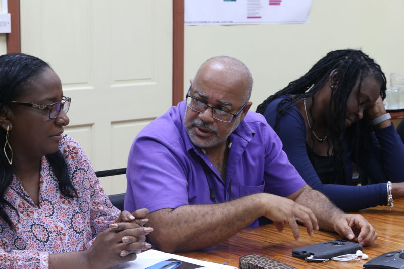 Preparation meeting organized at the OECS Commission in St. Lucia with the education specialists before the mission of the Return to Happiness Programme to Antigua.