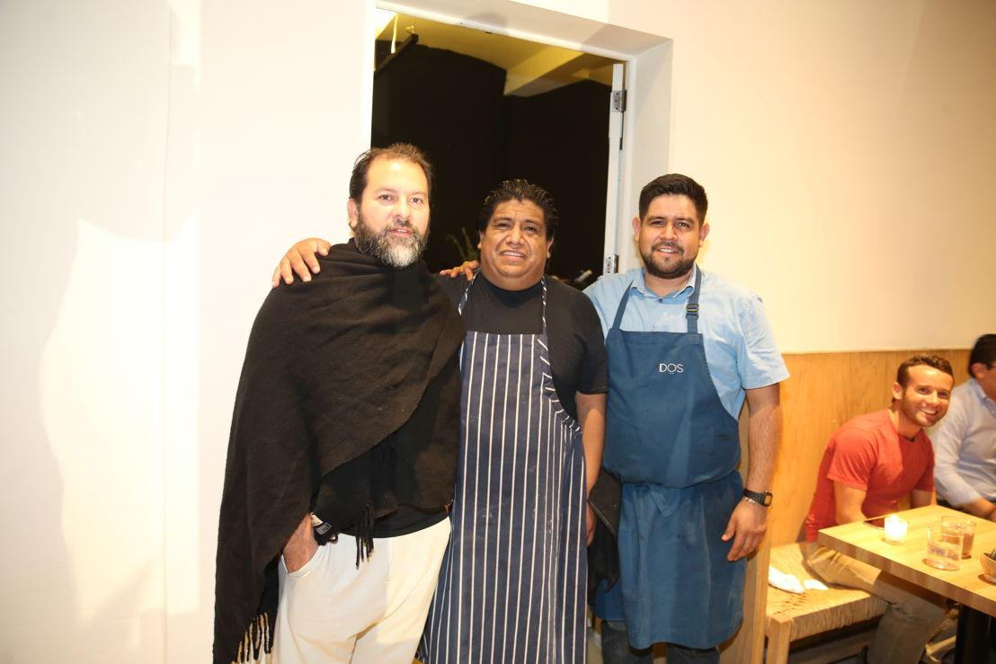 Chefs Enrique Olvera, Luis Arellano y  Erick Guerrero