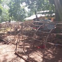 Makeshift shelters at Zemio hospital in south eastern CAR sit abandoned and destroyed after two recent attacks at the hospital forced those who were seeking shelter to flee into surrounding bushes and across the border to DRC.<br/>On July 11, armed men opened fire in the compound, killing a baby and injuring many more. At the time, an estimated 7,000 people had been taking shelter at the site. A month later, one day before this picture was taken, another armed group opened fire at the hospital, forcing the thousands who remained after the first attack to escape the violence, fleeing into the surrounding bush and across the border to DRC. As a result, MSF has ceased its operations in the area, with no patients to treat and the safety situation for our staff remaining precarious. Photographer: Josh Rosenstein