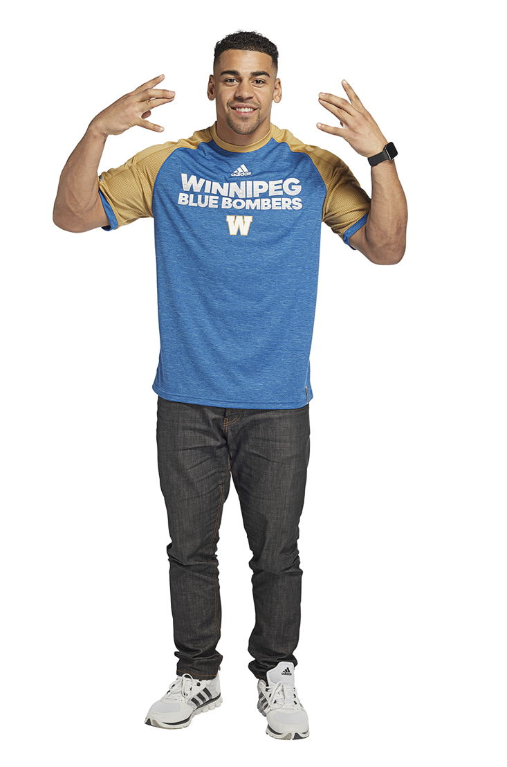 Winnipeg Blue Bombers adidas team collection (Andrew Harris).