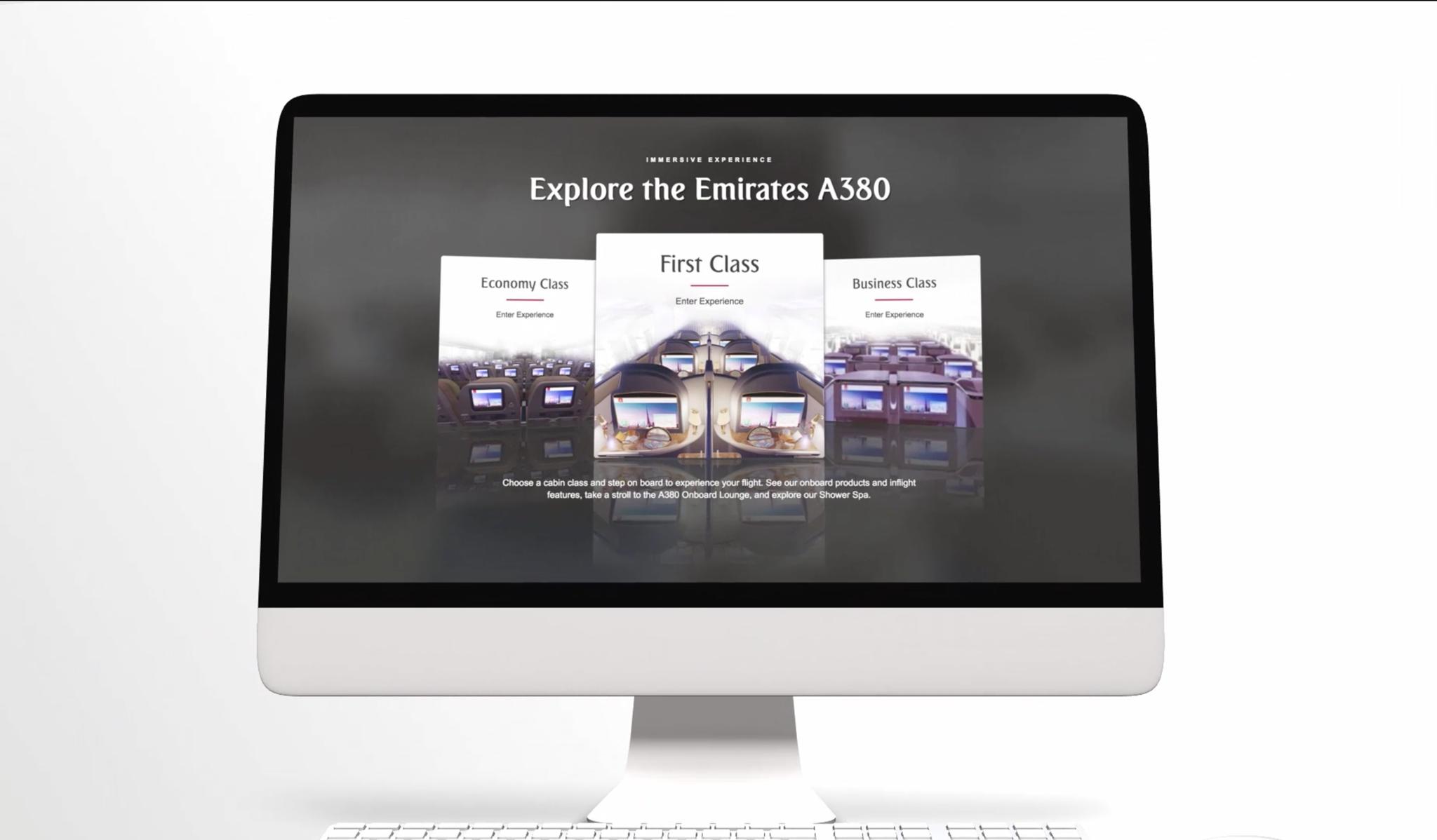 emirates pioneers web virtual reality technology on emirates com rh emirates com Emirates A380 Emirates B777 Tour