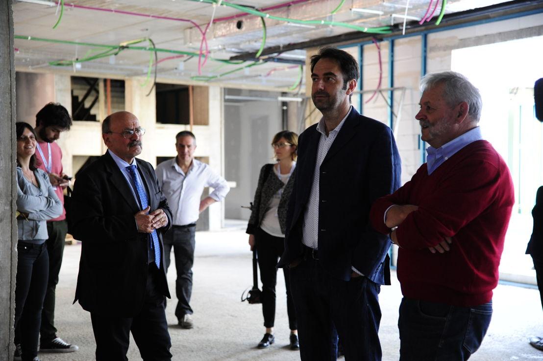 Neri Marcorè in visita al cantiere del Nuovo Centro nazionale
