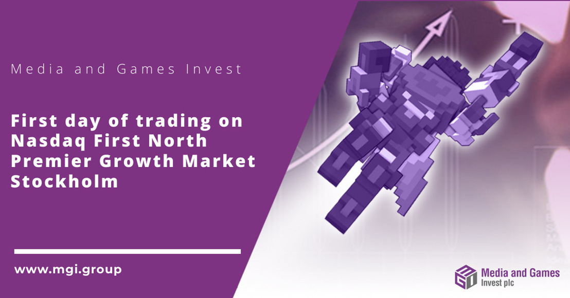 Media and Games; Invest plc first day of trading on Nasdaq First North Premier Growth Market, Stockholm