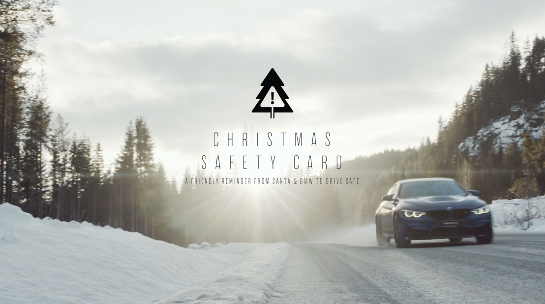 The Christmas Safety Card. A friendly reminder from Santa, BMW and AIR to drive safe.
