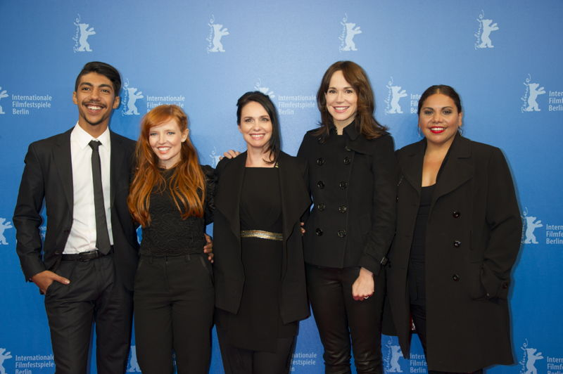 Hunter Page-Lochard, Stef Dawson, Tasma Walton, Frances O'Connor and Deborah Mailman at premiere of Cleverman at Berlinale