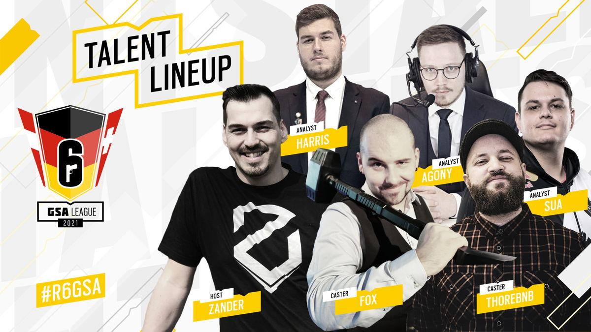 Dieses Talent Lineup wird die E-Sport Fans durch die Live-Übertragungen führen.