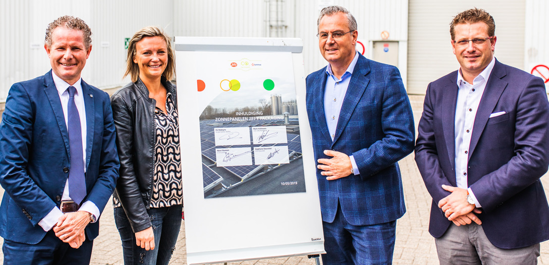 Parc photovoltaïque chez Jiffy Packaging à Wellen: de l'énergie verte pour une production encore plus durable