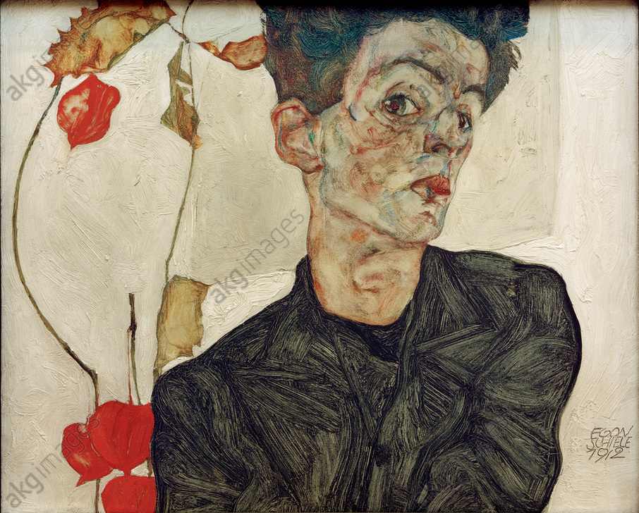 """""""Self-portrait with Chinese Lantern Fruit"""", 1909<br/>AKG387020"""