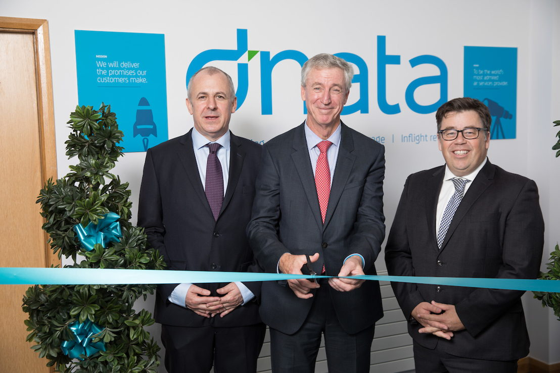 From Left to Right: Aiden Power, Gary Chapman, President, dnata and Robin Padgett, Divisional Senior Vice President Catering opened dnata's newest flight catering facility at Dublin Airport.
