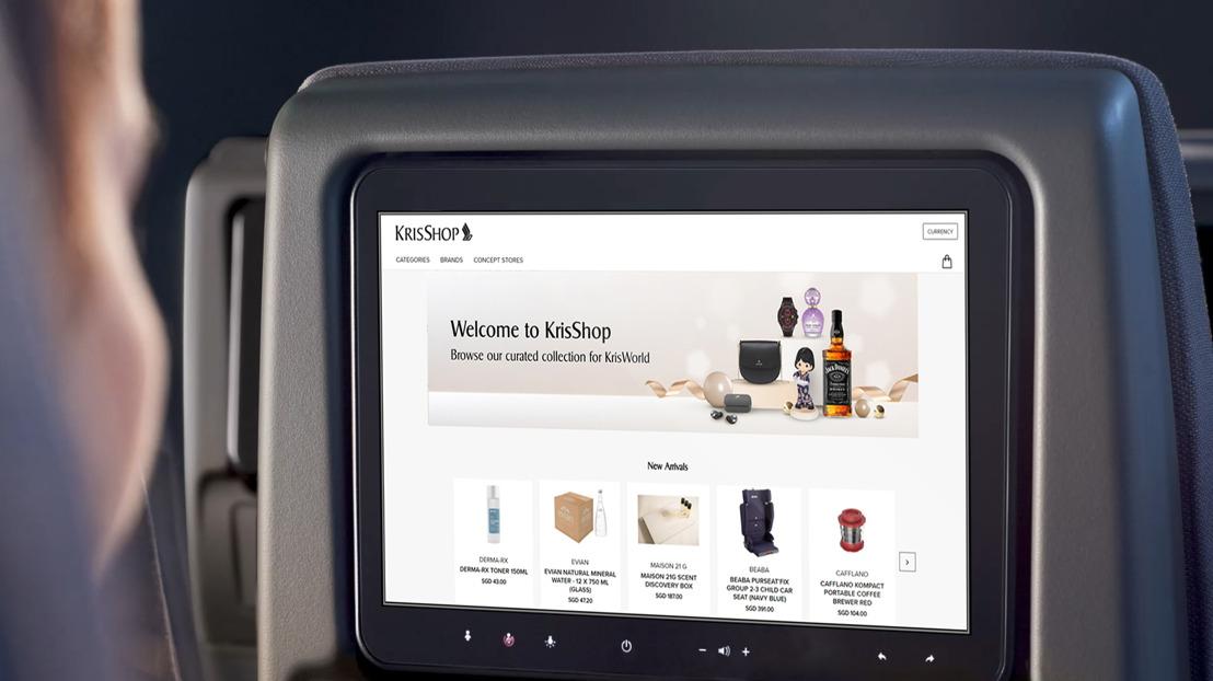 Thales et son partenaire Airfree transforment l'expérience d'achat en ligne à bord des A350 de Singapore Airlines